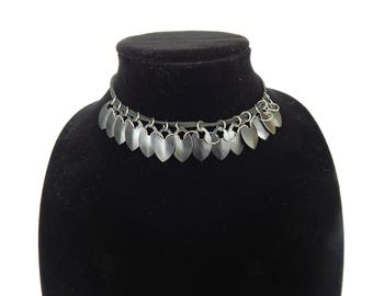 Dragon Scale Maille Leather Choker