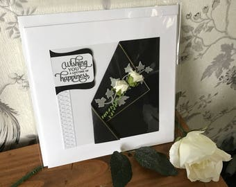 Large handmade wedding card