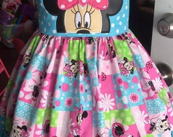 Minnie Mouse theme twirl dress