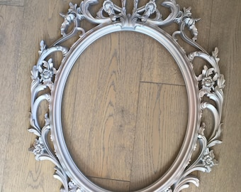 Baroque Style Ornate Frame- Sheer Pink Pearl
