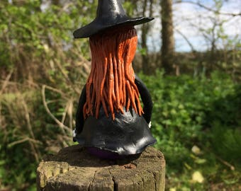 Lily, little witch, Halloween, Gothic, sculpture, figurine, ornament