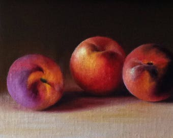 Peaches - 6x8, Oil Painting