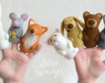 Finger Puppets Educational Toy Finger Theatre Animal Puppet, Fairy Tale Puppet, Toy Theater Finger Puppet Felt Finger Puppets felt puppet