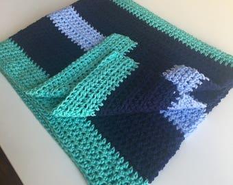 Nautical themed baby blanket/toddler blanket/boy blanket