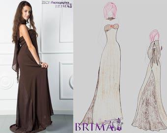 Big sale on ready made dress! Beautiful evening dress hand made