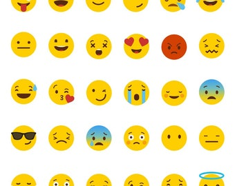Emoji Stickers - Can be in a variety of different sizes