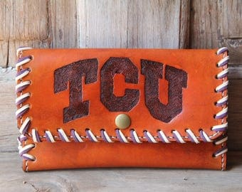 Hand Tooled Leather Clutch