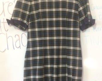 Vintage plaid dress size 4!