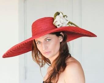 Large Brimmed Straw Hat
