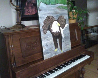 Standing Bald Eagle Painting by Ryan Stuart