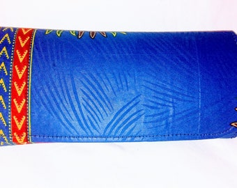 Ankara Snap-lock Clutch Purse