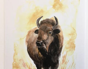 Yellow Sky Buffalo PRINT