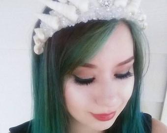 Custom large mermaid crown-Made to order