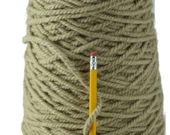 Beige 3 ply  100% Wool Yarn from New Zealand  (10 pounds)