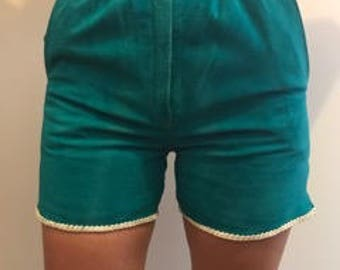Vintage high waisted suede shorts