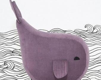 "Fabric figure Wal ""KARL KLEINE"" Plum"