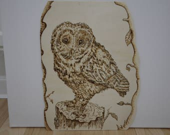 Pyrography, fire screen, image from wood, wood image, communication, image