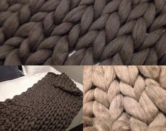 Scrumptiuosly Soft Australian Merino Chunky Knit Throw