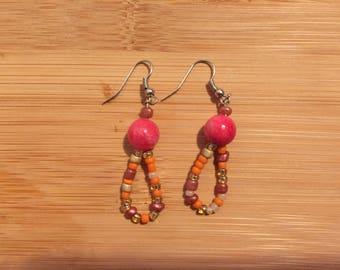 Pink Loop Earring