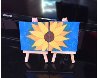 mini painting, mini canvas, acrylic painting, home decor, office decor, gift idea