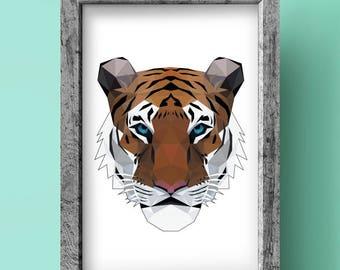 Tiger Print - Geometric art - Original design - Animal print