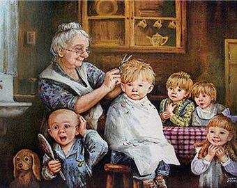 The First Haircut - Dianne Dengel Print