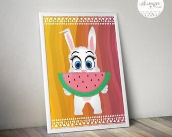 Whimzee Kids - Bella the Bunny - Watermelon