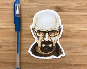 Heisenberg Vinyl Sticker, Breaking Bad Sticker, Breaking Bad Birthday Gift, Walter White, Better Call Saul, Decal Breaking Bad, Art Prints