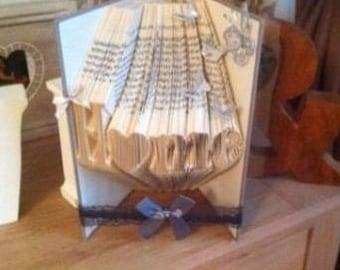 HOME book folded art