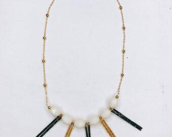 Sophia -  statement beaded necklace