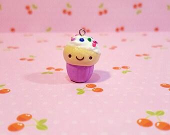 Mile High Kawaii Sprinkle Cupcake Charm