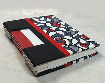Journal Sketchbook fabric covered Buttonhole Binding