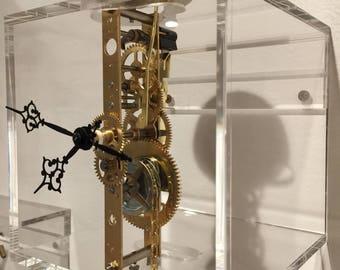 Custom Hermele Skeleton Clock with Bell Chime