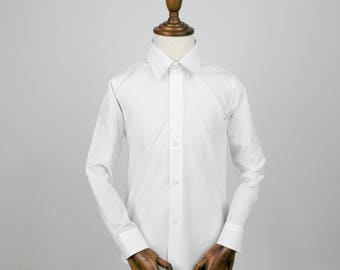 White Boys Shirt - Wedding, Church, Formal, Communion Shirts