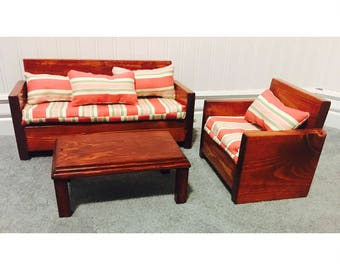 "Sofa & Chair for 18"" Doll"