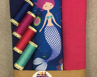 "Fabric Jersey ""Mermaid"" Mermaid Mermaid"