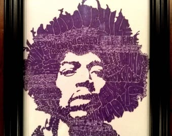 Original Jimi Hendrix Pen & Ink