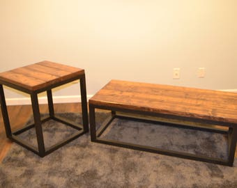 Industrial Coffee/End Table Set