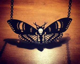 Deaths Head Moth Necklace - Large