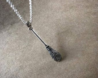 Witches Broom Necklace - Sterling Silver