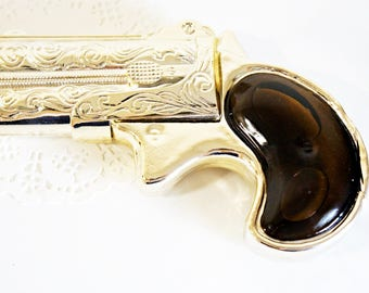 VINTAGE Derringer Decanter - Wild Country Cologne by AVON, 2 Fl. Oz.