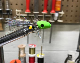 Fly fishing poppers and sneaky petes