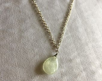 Peridot Necklace on Silver Chain