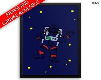 Astronaut Printed  Poster Astronaut Framed Astronaut Nursery Art Astronaut Nursery Print Astronaut Canvas Astronaut space art