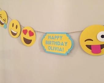 Large Emoji Party Smiley Banner Garland