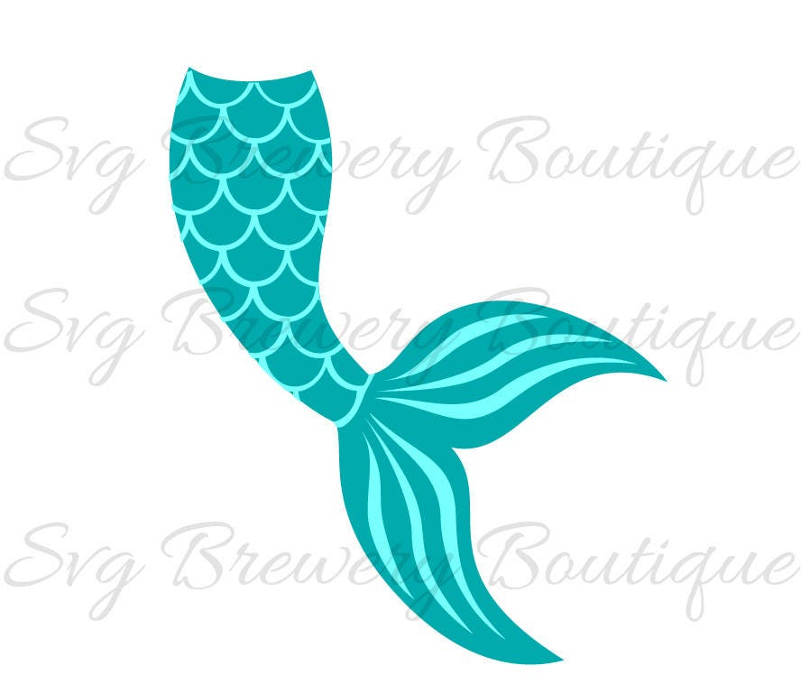 mermaid tail clam shell svg layered png dxf for