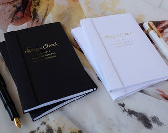 His and Hers Notebooks, Mr and Mrs, Custom Wedding Pocket Notebooks, Gold Foil, Silver Foil,