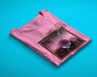 t-shirt girl - teen - pink - mini shopper - button - pin - sensory journeys - carcade - dream - handmade - gift idea - kokoronaif tees