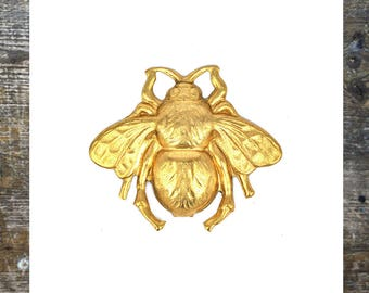 Bee findings Bumble Bee Jewelry Findings Brass Stamping (1 pc)