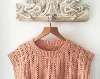 1980s Vintage Knit Top in Clay